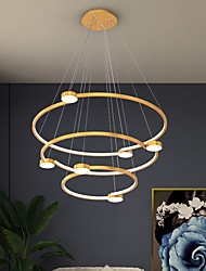 cheap -LED Pendant Light 60 cm Single Design Pendant Light Stainless Steel LED Nordic Style 110-240 V