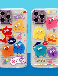 cheap -Phone Case For Apple Back Cover iPhone 12 iPhone 12 Pro Max iPhone 12 Pro Shockproof Dustproof Plating Cartoon TPU