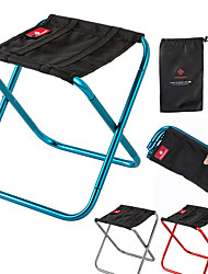cheap -KORAMAN Camping Stool Portable Ultra Light (UL) Foldable Aluminium 7075 for 1 person Camping Camping / Hiking / Caving Traveling Mountaineering Autumn / Fall Summer White Red Blue Silver