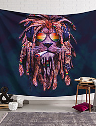 cheap -Animal World Wall Tapestry Art Decor Blanket Curtain Hanging Home Bedroom Living Room Decoration Polyester