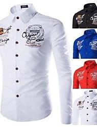 cheap -men's casual shirts zogaa 2021 brand shirt high quality long sleeve button-down dress letter print soft fashion male blouse