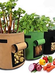 cheap -2pcs Plant Grow Bags Home Garden Potato Pot Greenhouse Vegetable Growing Bags Moisturizing jardin Vertical Garden Bag tools