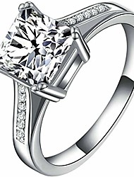 cheap -jude jewelers stainless steel 4 carat princess cut wedding engagement halo bridal proposal ring (silver, 9)