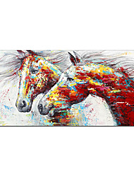 cheap -Oil Painting Handmade Hand Painted Wall Art Mintura Double Horse Animals Home Decoration Decor Rolled Canvas No Frame Unstretched
