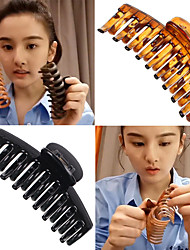 cheap -11 cm large clip black keel clip song zuer the same hair clip candy color ponytail clip shower clip hair accessories
