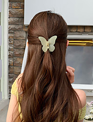 cheap -gentle butterfly hair clip clip back head frosted acrylic hair clip little fairy clip temperament hairpin headdress