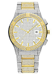 cheap -missfox hip-hop calendar large dial men's watch stainless steel high-end diamond waterproof watch