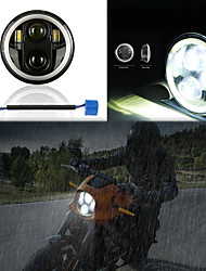 cheap -OTOLAMPARA 150W 5.75 Inches Motorcycle LED Headlight H4 Multi-functional Dual Colors Motorcycle Headlight Bulb PK43T IP67 Waterproof 1pcs