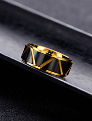 cheap -fashion personality men's gold titanium steel ring jewelry