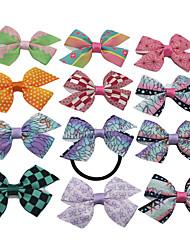 cheap -Kids Baby Girls' Custom Ribbon Demon Slayer Bow Diy Hair Accessories Custom Headband Demon Slayer Peripheral Streamers