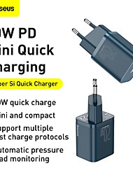 cheap -BASEUS 20 W Output Power USB C PD Charger Fast Charger Phone Charger GaN Charger Laptop Charger Portable Charger Portable QC 3.0 Fast Charge For iPad Cell Phone Laptop Tablet