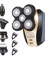cheap -5-in-1 electric shaver for men ,4d floating head shavers for bald men, 5 head cordless grooming kit with waterproof ipx6, beard, nose, ear, body hair trimmer, face cleaning brush