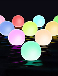 cheap -Outdoor Light 1X 2X 6X IP68 Waterproof RGB LED For Swimming Pool Floating Ball Lamp RGB Home Garden KTV Bar Wedding Party Decorative Holiday Summer Lighting