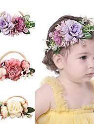 cheap -Kids Baby Girls' Creative Color Simulation Flower Children's Nylon Stretch Headband Fashion Baby Super Soft Hair Accessories