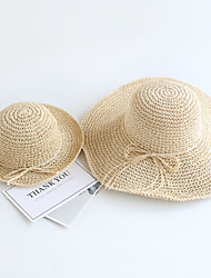 cheap -Mommy and Me Foldable Big Brimmed Straw Hats