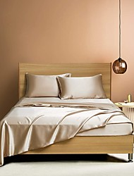 cheap -4 Piece Hotel Luxury Soft Premium Solid Color Bed Sheets Set Deep Pockets Hypoallergenic Wrinkle & Fade Resistant Bedding Set
