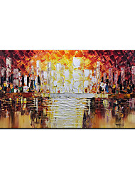 cheap -Oil Painting Handmade Hand Painted Wall Art Modern Palette Abstract Architecture Home Decoration Decor Rolled Canvas No Frame Unstretched
