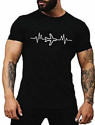 cheap -men's summer aircraft printed t-shirts comfortable tee shirts graphic round neck t shirts tops