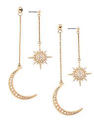 cheap -moon earrings for women girls moon and star earrings jewelry fashion long drop dangle stud multicolor