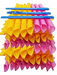 cheap -40 pieces (55 cm/ 21.7 inch) hair curlers for long hair spiral curls styling kit spiral curlers hair rollers no heat hair 3 pieces styling hooks for extra long hair most kinds of hairstyles (55 cm)