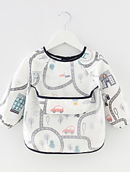 cheap -Baby's Children's Overalls Waterproof Long-Sleeved Anti-Wearing Baby Eating Clothes Apron Cotton Child Bib Protective Clothing With Rice Pocket