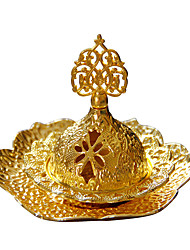 cheap -hand-held incense burner middle eastern arab small luxury european golden metal small incense burner with a tray shipped