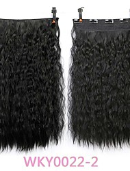 cheap -manufacturers sell european and beautiful one piece long hair fluffy corn whisker instant noodle roll repairing clip clip hair extension piece