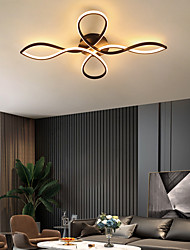 cheap -LED Ceiling Light Modern Black Gold 68 cm Circle Design Flush Mount Lights Aluminum Artistic Style Modern Style Stylish Artistic Modern 110-120V 220-240V