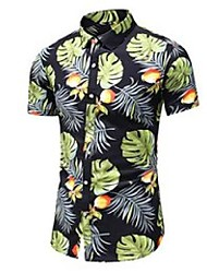 cheap -plus size 5xl 6xl 7xl 20 color men's floral shirt summer men's short sleeve hawaiian shirt male brand clothes 210522