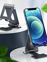 cheap -Phone Holder Stand Mount Desk Phone Holder Phone Desk Stand Adjustable Silicone Aluminum Alloy Phone Accessory iPhone 12 11 Pro Xs Xs Max Xr X 8 Samsung Glaxy S21 S20 Note20