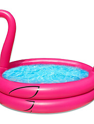 """cheap -63"""" Inflatables Kiddie Pool for Kids Toddler Infant Baby Pool Flamingo Blow Up Swimming Pool Indoor Outdoor Backyard Garden Summer Water Games Party Toys Lounge Pit Ball Pool(63""""x47""""x 10"""")"""
