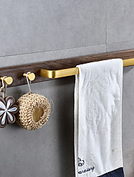 cheap -Multifunction Towel Bar Zinc Alloy Towel Rack Free Punch Bathroom Single Rod with 2 Hooks 1PC