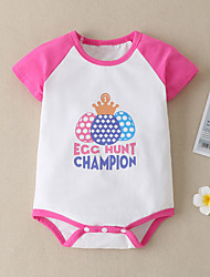 cheap -Baby Girls' Active Print Short Sleeves Romper Blushing Pink