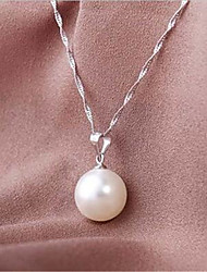 cheap -Women's Pearl Pendant Necklace Classic Flower Fashion Copper White 45+5 cm Necklace Jewelry 1pc For Anniversary Gift Birthday Party Festival