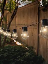 cheap -LED Solar String Lights Outdoor Wedding String Lights 6M-30 Bulbs 5M-20 Bulbs Solar Powered Waterproof Garden Ball String for Christmas Wedding Party Layout Garland Garden Patio Décor Lamp