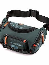 cheap -haoshuai running waist bag chest shoulder backpack fanny sling chest pack crossbody bags for men (emerald green)