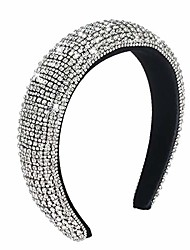 cheap -nifisa fashion diamond headbands baroque rhinestone headbands for women velvet padded crystal hair hoop bejeweled wide hairband for valentines wedding party gifts