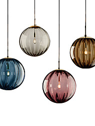 cheap -LED Pendant Light Bedside Light Glass Globe Design Modern 15 cm Lantern Desgin Metal Electroplated 110-120V 220-240V