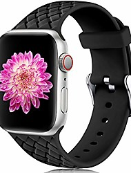 cheap -smartwatch band  compatible with apple smartwatch band 42mm 44mm, waterproof gentle silicone replacement band weave pattern sports bracelet for iwatch series 5 4 3 2 1, women men, large black