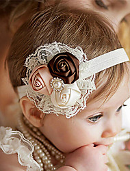 cheap -1pcs Baby Girls' Sweet Baby Shower Floral / Striped Floral Style / Lace Trims Polyester Hair Accessories White / Blue / Purple One-Size