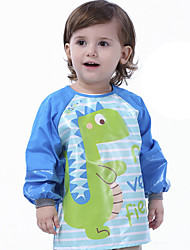 cheap -Baby's Autumn And Winter Cartoon Waterproof Children's Eating Overalls Long-Sleeved Plus Size Pure Cotton Reverse Wear Kindergarten Baby Painting Clothes