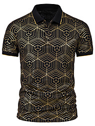 cheap -Men's Golf Shirt Tennis Shirt Other Prints Graphic Spider web Print Short Sleeve Casual Tops Simple Lightweight Comfortable Wine White Black / Work