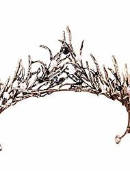 cheap -crown, tiara, vintage crystal diamond bride bridal wedding hair head band wear rhinestone jewelry headdress headband tiara coronal big crown pageant (antiqued w/gift box)