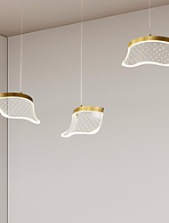 cheap -LED Pendant Light Bedside Light Modern Nordic Copper Nordic Metal Lights Living Room Bedroom Kitchen Dining Room Light Acrylic lampshade Warm White Cool White 6W 480LM
