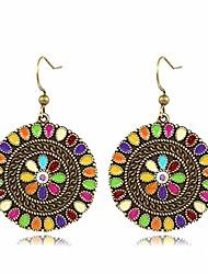 cheap -vintage boho statement drop dangle earrings bohemian ethnic enamel crystal disc hook charms earring jewelry for women girls elegant gift