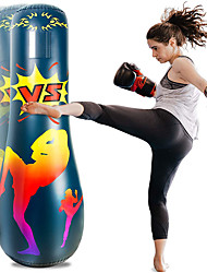 cheap -Inflatable Punching Bag 67 Inch Focus Punching Bags Freestanding Bounce Back Boxing Bag for Adults and Kids Karate Practice Exercise Decompression Kick Training