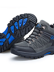 cheap -Men's Hiking Shoes Sneakers Hiking Boots Waterproof Breathable Comfortable High-Top Hiking Climbing Walking Autumn / Fall Spring Black Grey Brown