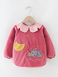cheap -Baby's Factory Direct Baby Gowns Children's Eating Bibs Cute Autumn And Winter Long-Sleeved Anti-Wearing Clothing In Stock