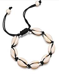cheap -shanzeh sea shell anklet for women and teen girls summer natural adjustable ankle bracelet, handmade boho hawaiian beach seashell jewelry for girls hebe 9