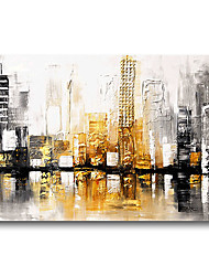 cheap -Oil Painting Handmade Hand Painted Wall Art Urban Landscape Skyline Home Decoration Dcor Stretched Frame Ready to Hang